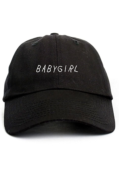 070208198dc7b1 Babygirl Unstructured Baseball Dad Hat Cap - Black at Amazon Men's Clothing  store: