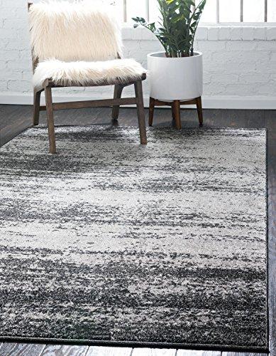 Unique Loom Del Mar Collection Contemporary Transitional Dark Gray Area Rug (5 x 8)
