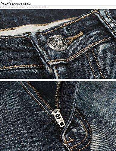 Demon 808 Skinny Pitillos X Series X Vaqueros amp;Hunter Pantalones Dh8028 Índigo Jeans Skinny Hombre Sr6xqSnTB