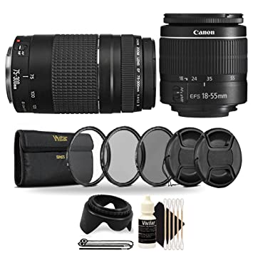 EOS 80D T6i UV-CPL-FLD 58mm Multi-Coated 3 Piece Filter Kit EOS 77D Cameras with Canon EF-S 18-55mm f//3.5-5.6 is II T7i for Canon Rebel T5 is STM Lens T6