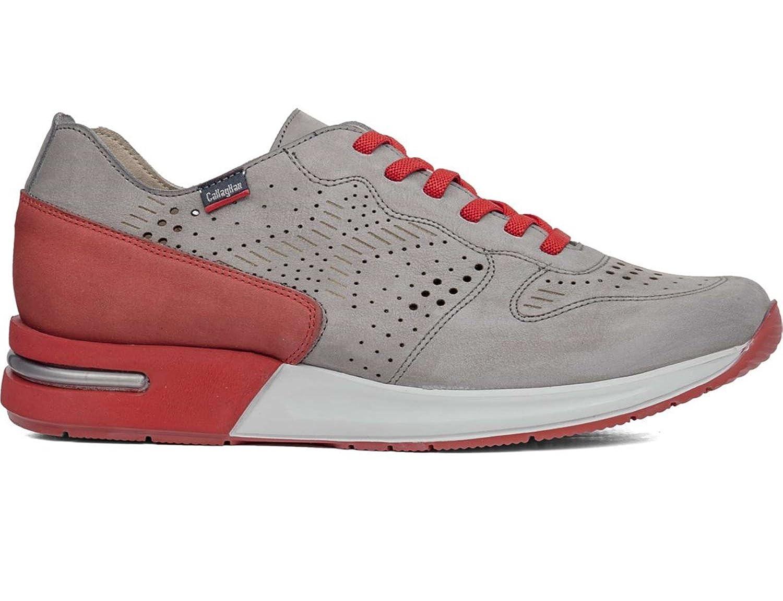 CallagHan Herren Sneaker Mehrfarbig Grigio Rosso  45 EU