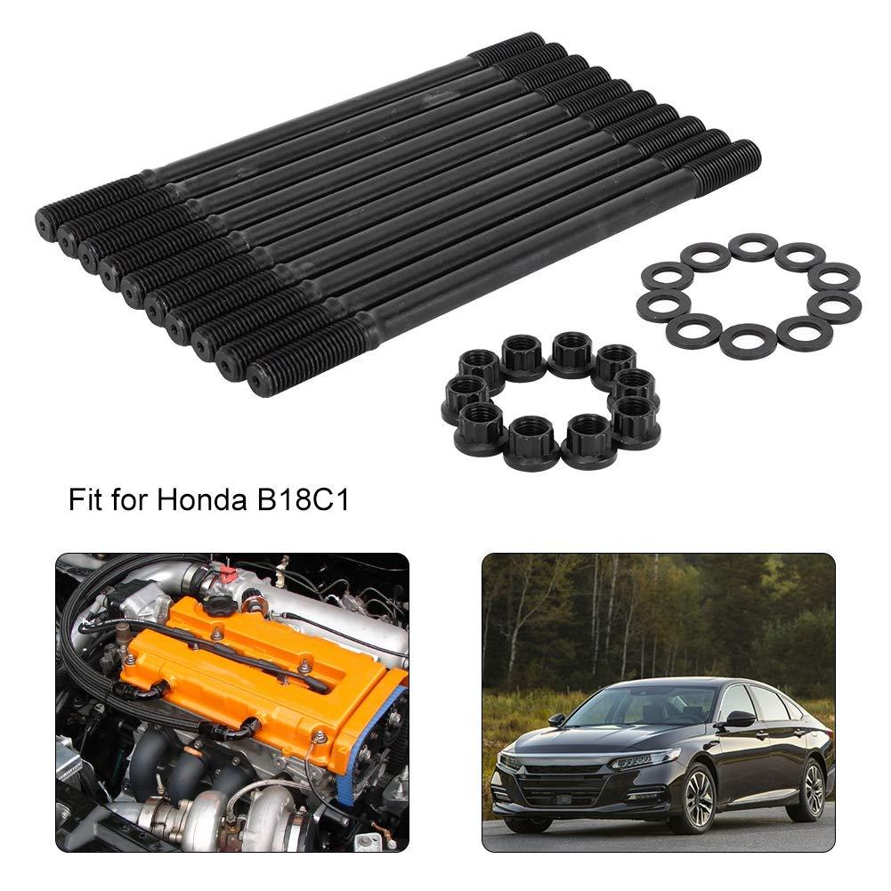 Racing Head Stud Kit Car Cylinder Head Gasket Bolt Car Head Stud Kit Cylinder Head Stud Screw Sleeve Kit Car Accessory Fit for B18C1