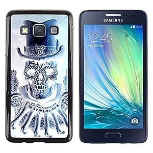 Paccase / SLIM PC / Aliminium Casa Carcasa Funda Case Cover - Top Hat Bling Diamond Skull Death - Samsung Galaxy A3 SM-A300