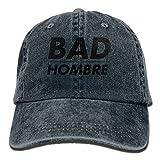 portable washing machine samsung - SKXJ0IOAI Bad Hombre Unisex Flat Bill Hip Hop Cap Baseball Hat Head-Wear Cotton Trucker Hats Navy