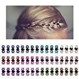 ACO-UINT 48 Pieces Mix Colored Rhinestone Mini Hair Claw Clips Flower Crystal Small Butterfly Hair Claw Clips Hair Clipsfor Baby Toddler Girls Women Hair Accessories (12 Colors)