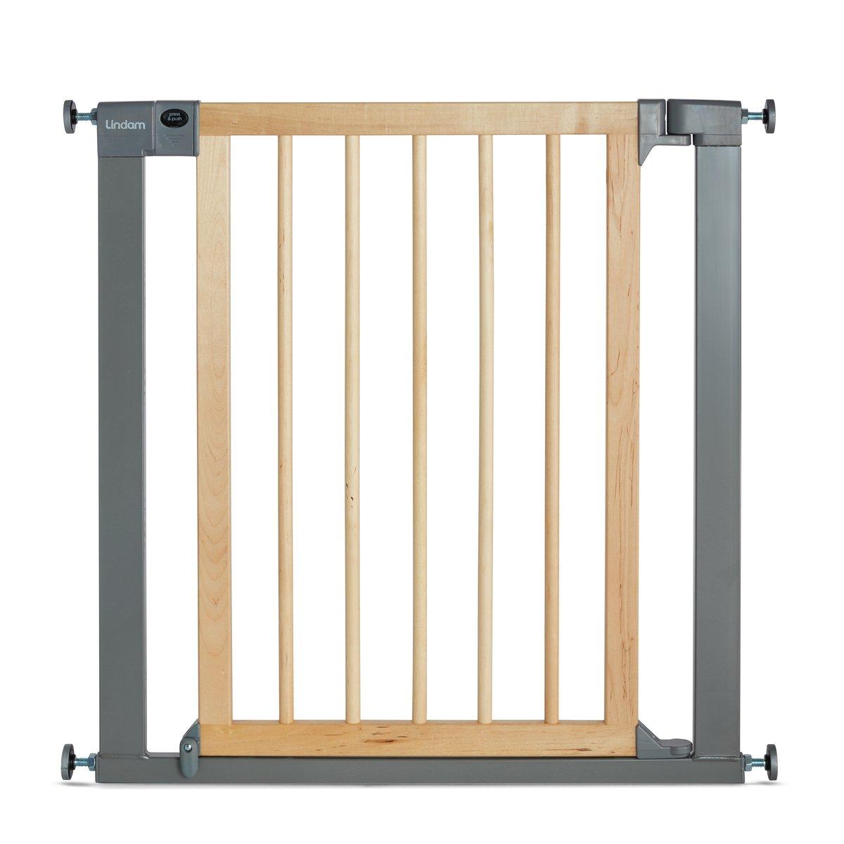 Lindam Barrière - Sure Shut Déco - Natural Wood and Silver Metal 04443101