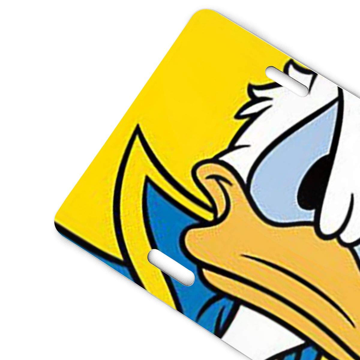 Meirdre Aluminum License Plates Running Donald Duck License Plate Tag Car Accessories 12 X 6 Inches