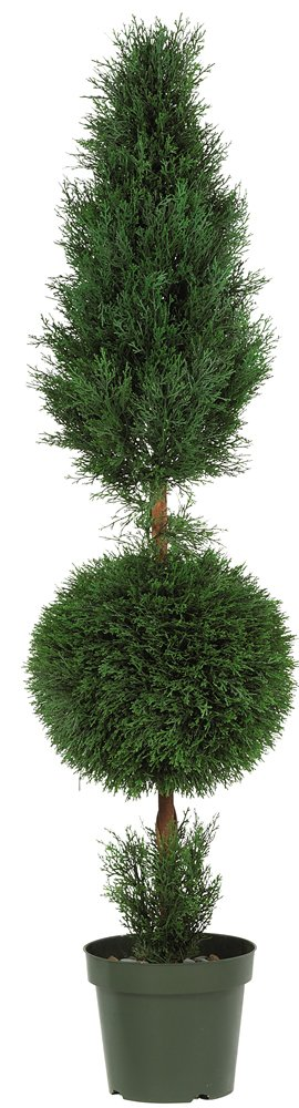 Nearly Natural 5168 Cypress Ball and Cone Silk Tree, 5-Feet, Green by Nearly Natural