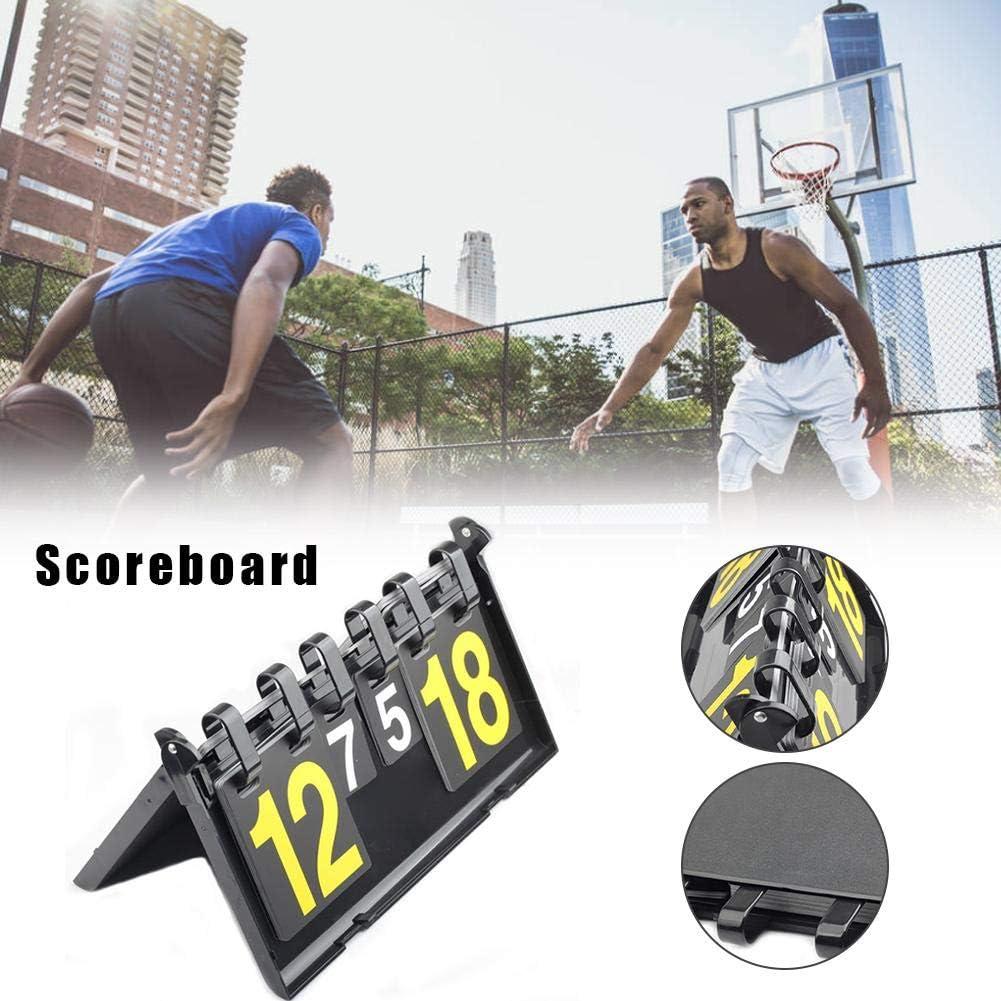Yestter Vierstellige High-End-Multifunktions-Tischtennis-Anzeigetafel Basketball-Anzeigetafel 4-stellige Anzeigetafel F/ür Sportwettbewerbe F/ür Das Tischtennis-Basketball-Badminton