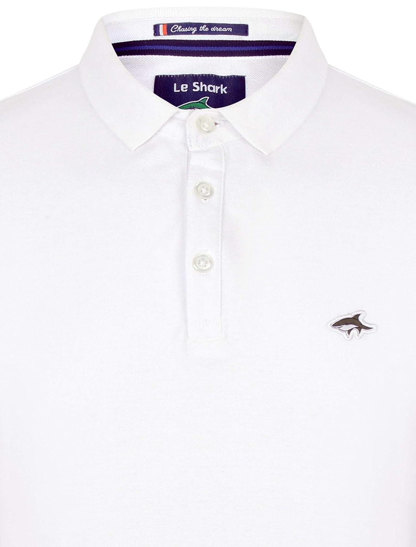 Le Shark Hombres Polo Camiseta Tee Llanura Diseñador Ajuste Manga ...