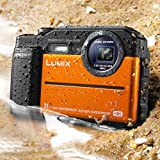 Panasonic DC-TS7D Lumix TS7 Waterproof Tough Camera, 20.4 Megapixels, 4.6x Zoom Lens, USA, with 3 LCD, Orange