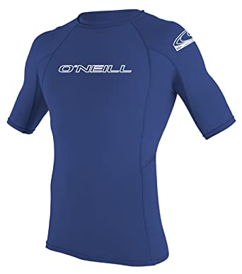 59c9b95c O 'Neill Wetsuits Basic Skins S/S Crew - Camiseta de poliester para hombre  con proteccin UV