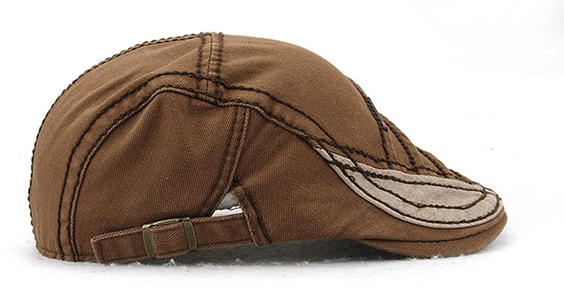 Ambiel Multilayer Style Cotton Newsboy Cap Retro Beret Boina Cabbie Flat Hat Ivy Cap