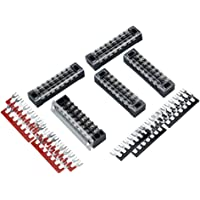 F Fityle 5 Pack 8 Position Screw Barrier Terminal Block 600V 15A with Pre-insulated Terminal Barrier Strips 450V 32A for…