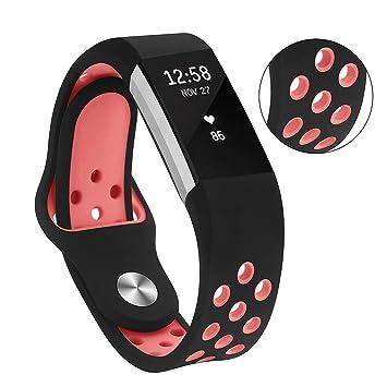 2 correas de repuesto Yoowei de Fitbit Charge para relojes inteligentes de pulsera de gel de silicona suave Fitbit Charge 2: Amazon.es: Deportes y aire ...
