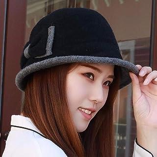 HUAIX Home Cappellino da Cappello di Moda, Cappello da Pescatore, Bordo Arricciato, Cappellino, Cappello Invernale, Nero