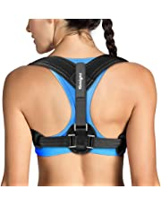 Tomight Back Posture Corrector for Women & Men, Adjustable Back Brace to comfortably Improve Posture-Clavicle Support for Slouching & Hunching-Upper Back/Relief Neck Shoulder Pain [Upgrade Version]
