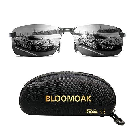l'ultimo 82ef0 aadde Bloomoak Migliori occhiali da guida – per protezione degli occhi UV400,  visione HD, polarizzati, pesca, guida, riduzione del rischio, antiriflesso,  ...