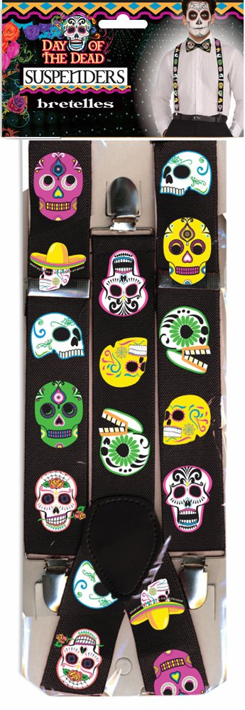 Bristol Novelty 76940 Day of the Dead Braces Accessory Set, One Size