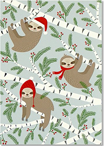 Merry Christmas Greetings (Merry Sloths Small Boxed Holiday Cards (Christmas Cards, Greeting Cards))