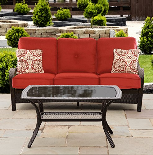 Hanover 2-Piece Patio Set Autumn Berry / Melrose / French Roast ORLEANS2PC-B-BRY