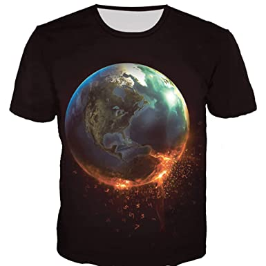 Cinnamou Camisetas Hombre 3D Estampada Camisetas Manga Corta Divertido Sudaderas Verano Polos y Tops Blusa de Redondo Cuello: Amazon.es: Ropa y accesorios