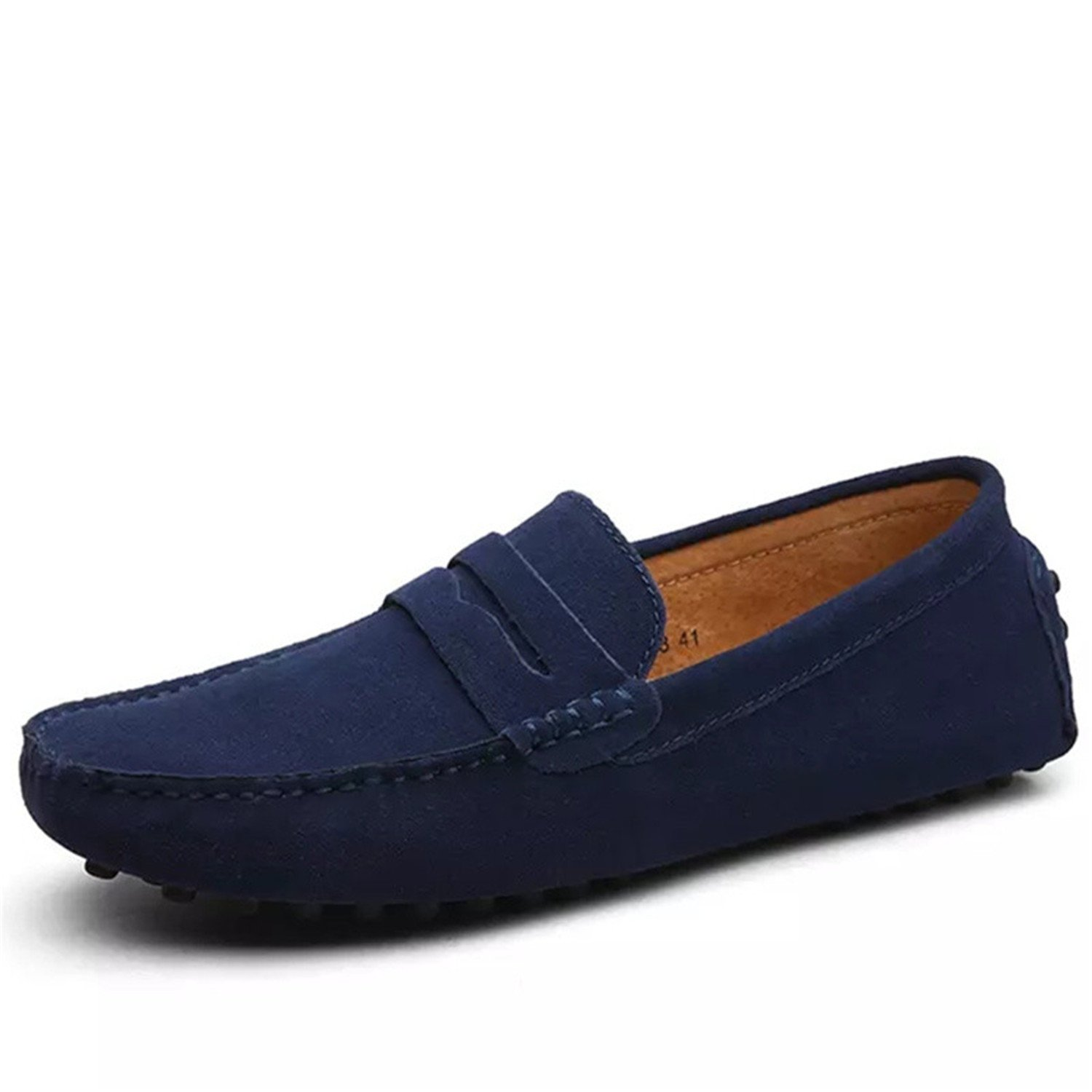 Sonjer Men Casual Suede Loafers 2017 Black Solid Leather Driving Moccasins Slip On Men Formal Loafers Shoes Male Dress Loafers