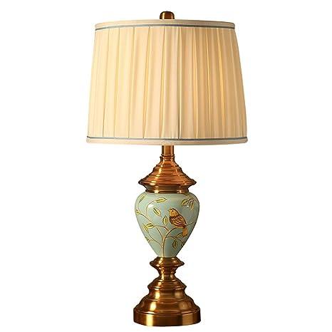SHAOHUAYING lámpara de Mesa Lámpara de Cobre Plateada ...