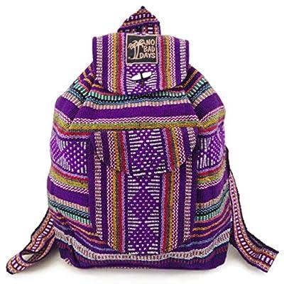 new Baja Backpack Indian Bag Mexico - Eggplant MultiColors - webcam ... a13f01832f174