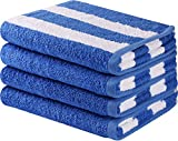 Utopia Towels Cotton Large Hand Towel Set (4 Pack, Blue - 16 x 28 Inches) - Multipurpose Bathroom Towels for Hand, Face, Gym and Spa