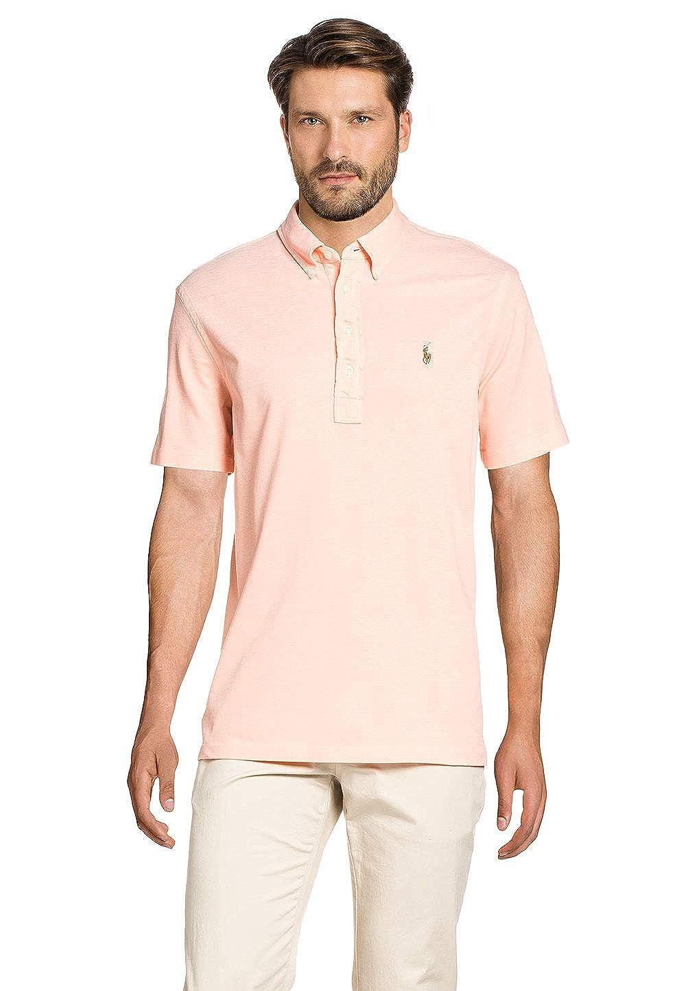 Polo Ralph Lauren Knits Other MenŽs Polo Shirt Melon/White, tamaño ...
