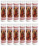 Our Lady of Guadalupe Religious Candle, Devotional, Vigil, Novena, Prayer, Saints, Candles, White, 12pk (1 Case)