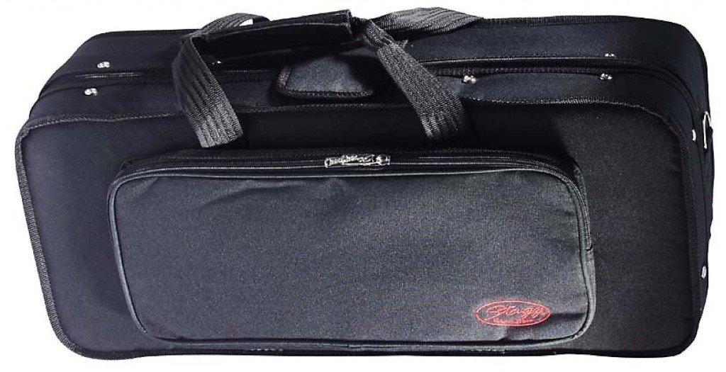 Stagg HBB AS Soft Case for Alto Saxophone with Adjustable Shoulder Straps - Black