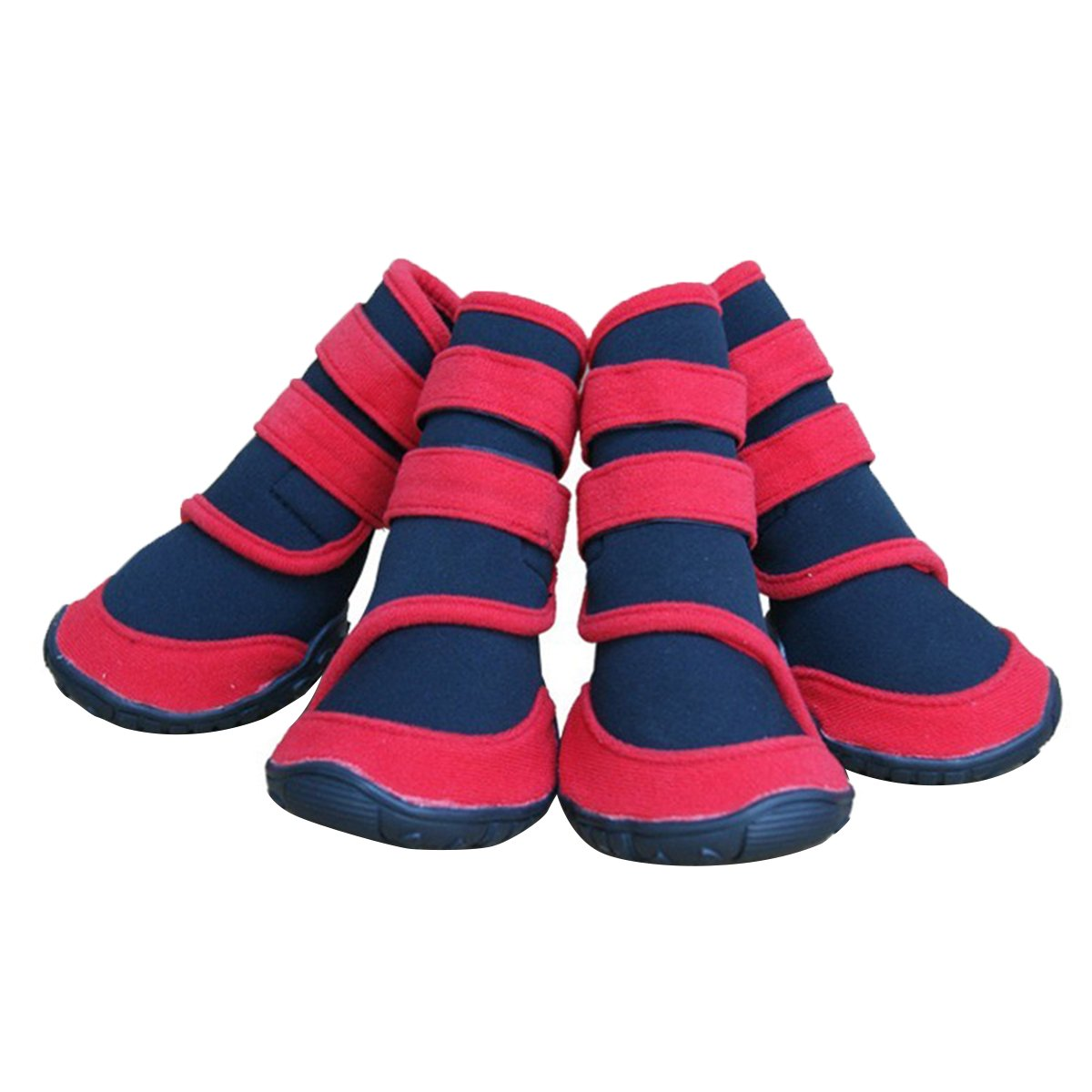 Red M Red M Adorrable Anti Slip Dog shoes Waterproof Winter Warm Small Medium Large Pet Rainboots, Red, Medium