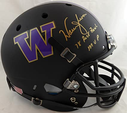 Amazon.com  WARREN MOON AUTOGRAPHED WASHINGTON HUSKIES FULL SIZE ... 88b709d16