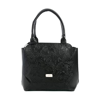 Velez Womens Beautiful Genuine Colombian Leather Handbags Reusable Tote Shop Bags | Carteras y Bolsos de Cuero Colombiano Mujer Black: Handbags: Amazon.com