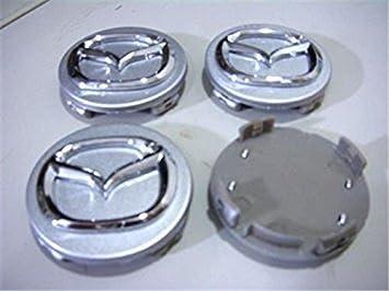 VAANQ 4 x Mazda Hub Cover embellecedor de rueda tapacubos TAPACUBOS (56 mm, Mazda 3 6 CX7 7 de llantas New: Amazon.es: Coche y moto