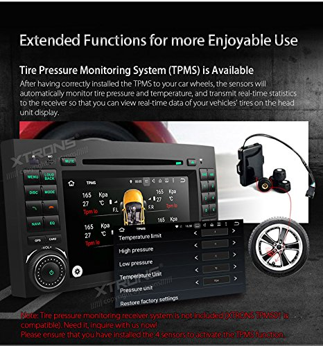 XTRONS Android 6.0 Octa-Core 64Bit 2G RAM 32GB ROM 7 Inch Capacitive Touch Screen Car Stereo Radio DVD Player GPS CANbus Screen Mirroring Function OBD2 Tire Pressure Monitoring for Mercedes-Benz by XTRONS (Image #8)