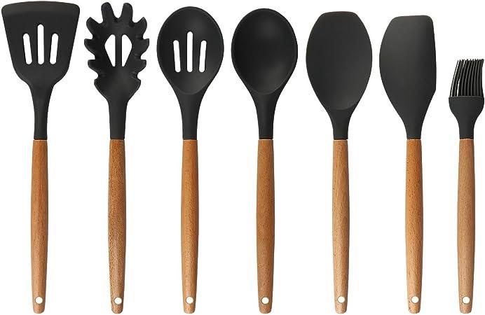 Lot de 10 supports pour baguettes ustensiles de cuisine cuill/ères Noir