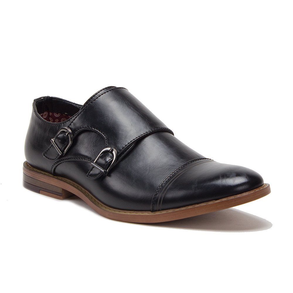 Amazon.com | J'aime Aldo Men's C-167 Cap Toe Double Monkstrap Loafer Dress  Shoes | Loafers & Slip-Ons