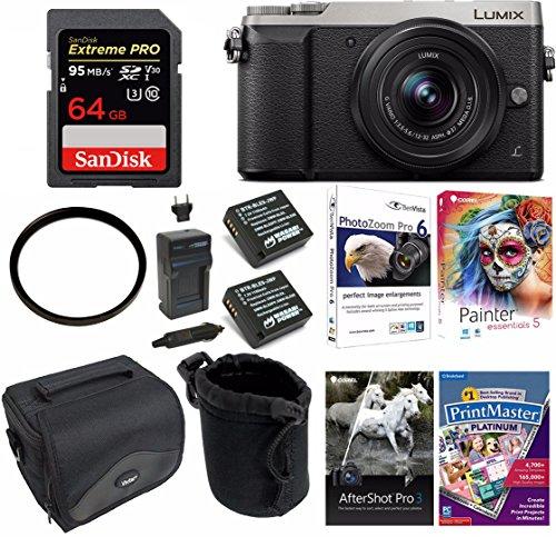 Panasonic LUMIX GX85 4K Mirrorless Digtial Camera w/12-32mm Lens & 64GB Bundle