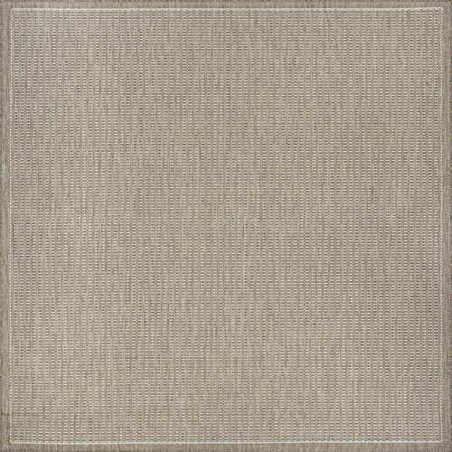 Couristan Recife Saddle Stitch Indoor/Outdoor Area Rug Champagne/Taupe, 8'6