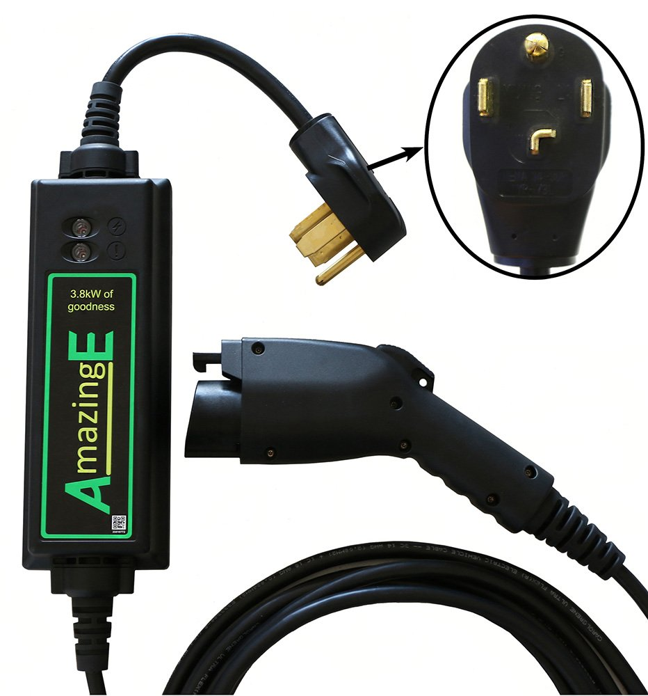 AmazingE Level 2 Portable Electric Vehicle Supply Equipment (EVSE) (NEMA 14-30 Plug, J1772 Connector, 20' Cable Reach)