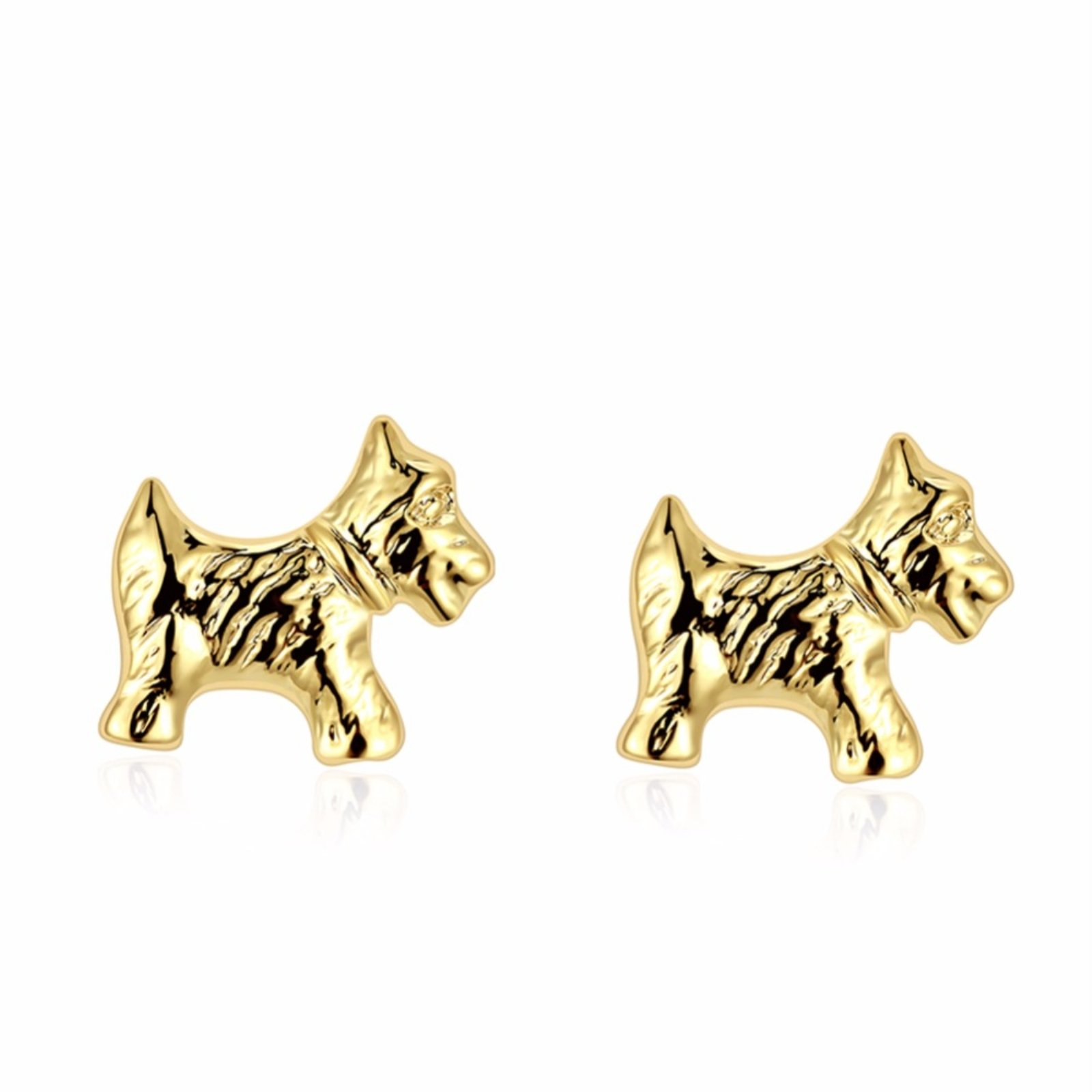 ptk12 Women's Jewelry Fashion Cute Tiny Puppy Dog Stud Earrings Gift For School Girls Kids Lady