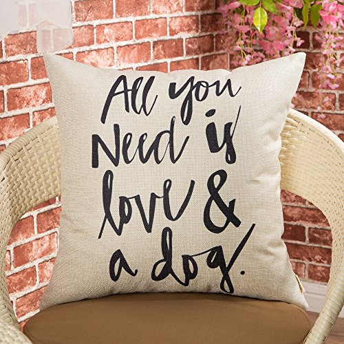 fjfz dog lover quote all you need is love and a dog cotton