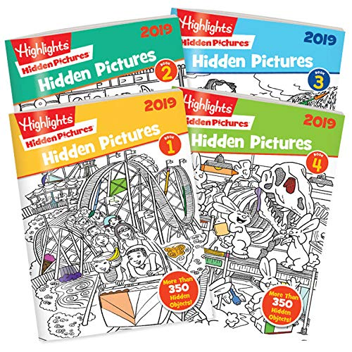 Highlights Hidden Pictures 2019 - 4 Book - Puzzles Picture Set