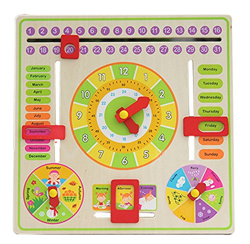 Yoovi Early Learning Time All About Today Board My First Activity Calendar by Yoovi