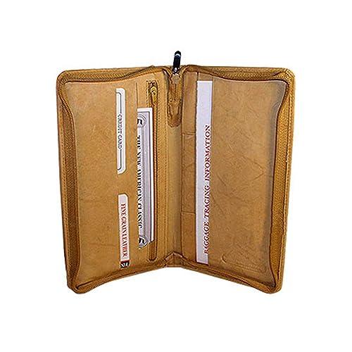 fdf65fc80571 Travel Passport Boarding Pass Ticket Tan Wallet