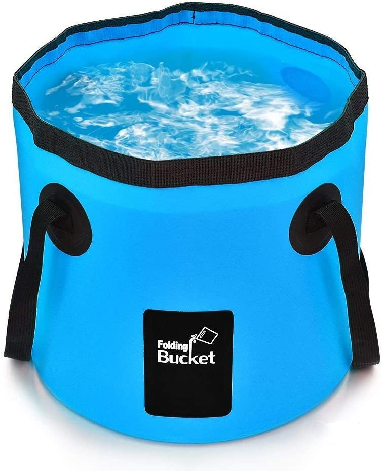 BANCHELLE Collapsible Bucket Camping Water Storage Container 20L Portable Folding Foot Bath Tub Wash Basin for Traveling Hiking Fishing Boating Gardening