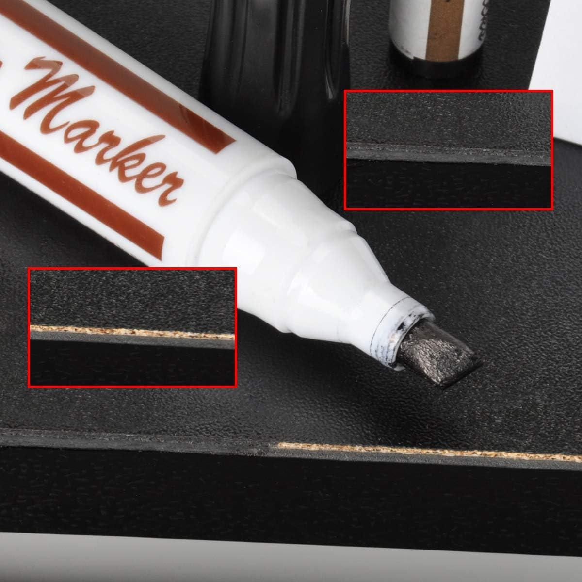 qiuxiaoaa 17Pcs Muebles Kit de retoque Marcadores y Palos de Relleno Kit de restauraci/ón de ara/ñazos de Madera Revestimiento Entrega aleatoria